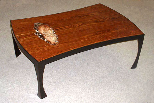 Chajo handcrafted art furnishings bowed coffee table for Coffee table 48 x 30