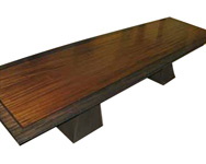 big island african dining table