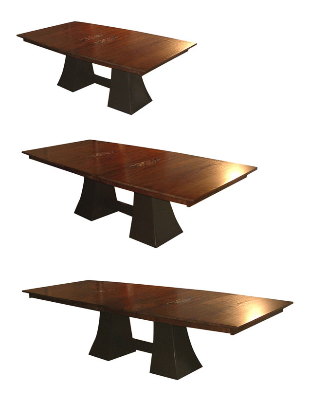 Claro Walnut Extending Dining Table